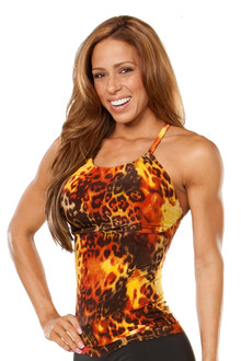 Metro Top -TIGER RUST- FINAL SALE - SMALL (1 AVAILABLE)