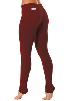 "Sport Band Leggings - RED BRICK -FINAL SALE- XSMALL -28"" INSEAM (1 AVAILABLE)"