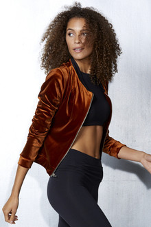 Velvet Bomber Jacket (stretch)