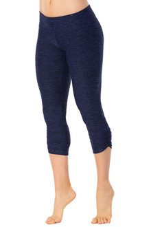 Butter Denim Sport Band Side Gather 3/4 Leggings - FINAL SALE - S