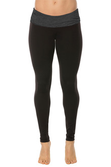 Rolldown Leggings - MARZ GREY ON BLACK - FINAL SALE - MEDIUM (1 AVAILABLE)