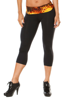 Tiger Rust Rolldown 3/4 Leggings - FINAL SALE - MEDIUM (1 Available)