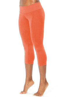 Sport Band 3/4 Leggings- TANGERINE- FINAL SALE-SMALL 1 AVAILABLE)