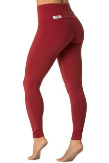 High Waist Leggings - DARK RED - FINAL SALE - MEDIUM- 27 INSEAM (1 AVAILABLE)