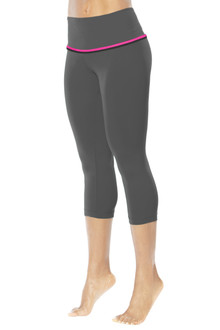 High Waist Double Halo 3/4 Leggings - Supplex