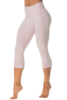 High Waist 3/4 Leggings - Butter - Light Pink