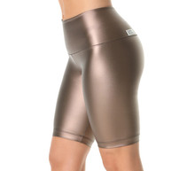 High Waist Cobra Shorts - Metallic Copper