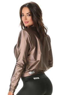 Bomber Jacket - Copper Metallic