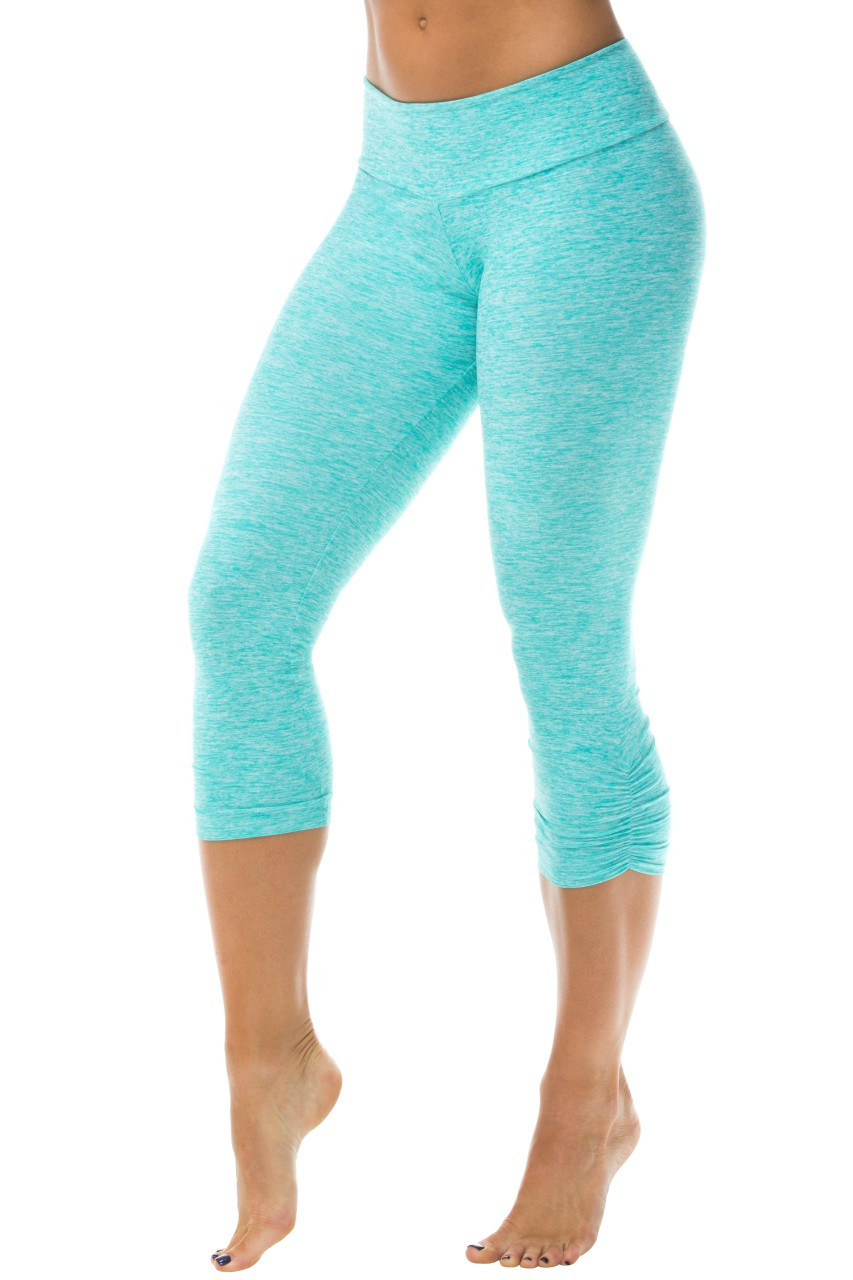 bd71dfe5dfad6b ... Sport Band Side Gather 3/4 Leggings - Butter Mint - FINAL SALE - XSMALL  (1 AVAILABLE). Image 1. Loading zoom