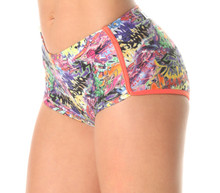 Retro Shorts - Graffiti Print
