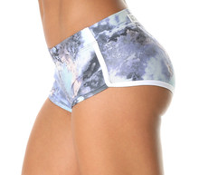 Retro Shorts - Marble Print