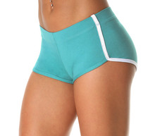 Butter Light Jade Retro Shorts