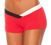 "JNL - Firefly Shorts - FINAL SALE - BLACK & WHITE ACCENT ON VEGAS RED - MEDIUM - 3"" INSEAM (1 AVAILABLE)"