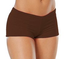 "Lowrise Double Layer Boy Shorts - FINAL SALE - CHOCOLATE - MEDIUM - 1.75"" INSEAM (1 AVAILABLE)"