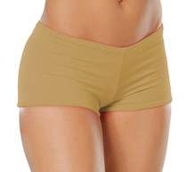 "Lowrise Double Layer Boy Shorts - FINAL SALE - OCRA -SMALL - 1.75"" INSEAM (1 AVAILABLE)"