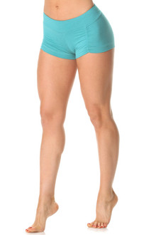 Kala Butter Gather Front Mini Band Shorts - Butter Light Jade