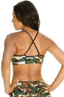 Mademoiselle Bra - Camouflage w/ Supplex Piping