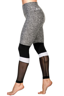 Adonis High Waist Leggings - Mesh/Supplex Accent on Butter