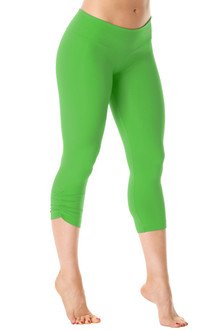 Exclusive Price - Sport Band Side Gather 3/4 Leggings -MELA - FINAL SALE