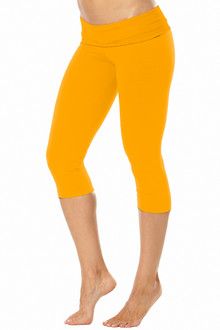 Rolldown 3/4 Leggings - GINGER ON GINGER - FINAL SALE - SMALL (1 AVAILABLE)