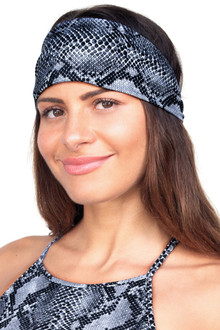 Snake Wide Tied Back Headband
