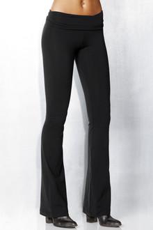 Rolldown Bootleg Pants- Solid Supplex