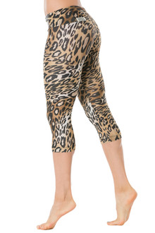 Wild Sport Band 3/4 Leggings - FINAL SALE - LARGE ( 1 AVAILABLE)