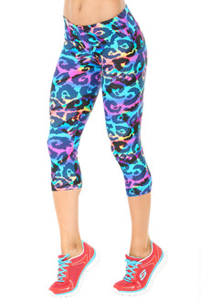 Alicia Marie - Rebel Sport Band 3/4 Leggings - FINAL SALE - XS, S & M