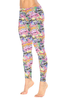 Alicia Marie - Graffiti Leggings - FINAL SALE - XS-INSEAM 28""