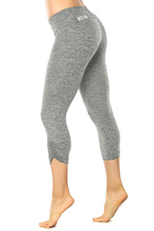 Butter Black Sport Band Side Gather 3/4 Leggings - FINAL SALE - L