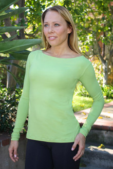 Bamboo Zen Top - MOUNTAIN GREEN - FINAL SALE - MEDIUM (1 AVAILABLE)