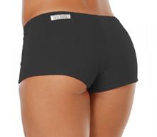 "Lowrise Double Layer Boy Shorts - BLACK - FINAL SALE - MEDIUM - 2.5"" INSEAM"