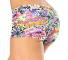 Graffiti Lowrise Mini Shorts - FINAL SALE - SMALL - 2.5' INSEAM (1 AVAILABLE)