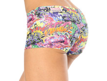 Alicia Marie - Graffiti Lowrise Mini Shorts - FINAL SALE - SMALL - 2.5' INSEAM (1 AVAILABLE)