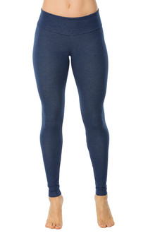 Denim Look Cotton Sport Band Leggings - FINAL SALE (1 AVAILABLE)