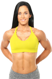 Cotton Racer Doll Bra - YELLOW - FINAL SALE - XS, S & M