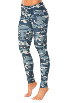 CAMOUFLAGE BLUE SPORT BAND LEGGINGS
