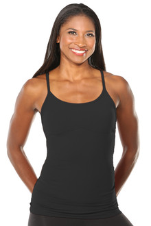 Yoga Form Top - BLACK - FINAL SALE - LARGE