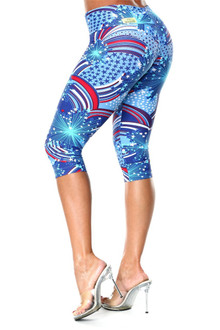 JNL -  Patriot Sport Band 3/4 Leggings - FINAL SALE - XS, S, M, & L