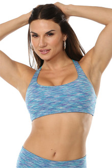 ACTIVE Bra - Turquoise-Purple Water