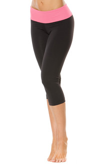 Sport Band 3/4 Leggings - Contrast Supplex