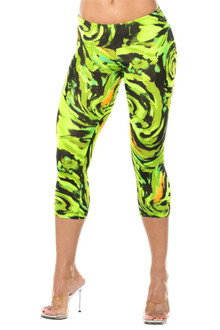 JNL - Hurricane Green 3/4 Leggings