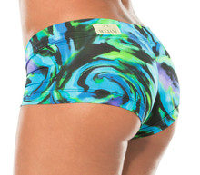 JNL - Hurricane Blue Mini Shorts