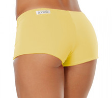 "Lowrise Double Layer Boy Shorts -LT  YELLOW - FINAL SALE - SMALL - 1.75"" INSEAM (1 AVAILABLE)"