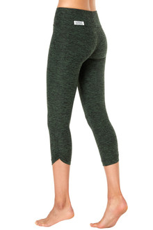 Butter Sport Band Side Gather 3/4 Leggings