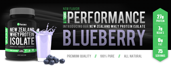 New Zealand Whey Protein Isolate Blueberry Flavor