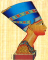 Bust of Nefertiti in Berlin Papyrus