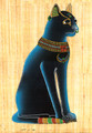 Egyptian Bastet Cat Papyrus