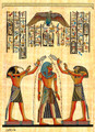 King with Horus Papyrus