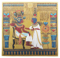 Egyptian King Tut and his Wife Plaque